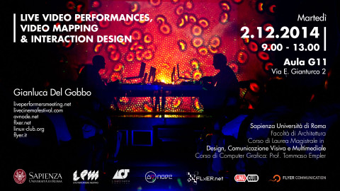 Image for: LPM 2015 Rome | LIVE VIDEO PERFORMANCES, VIDEO MAPPING & INTERACTION DESIGN